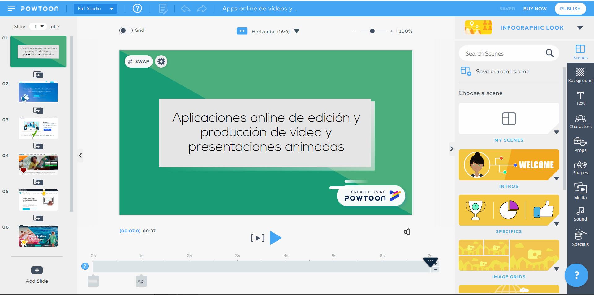 Aplicaciones online para edición y producción de vídeo y presentaciones animadas