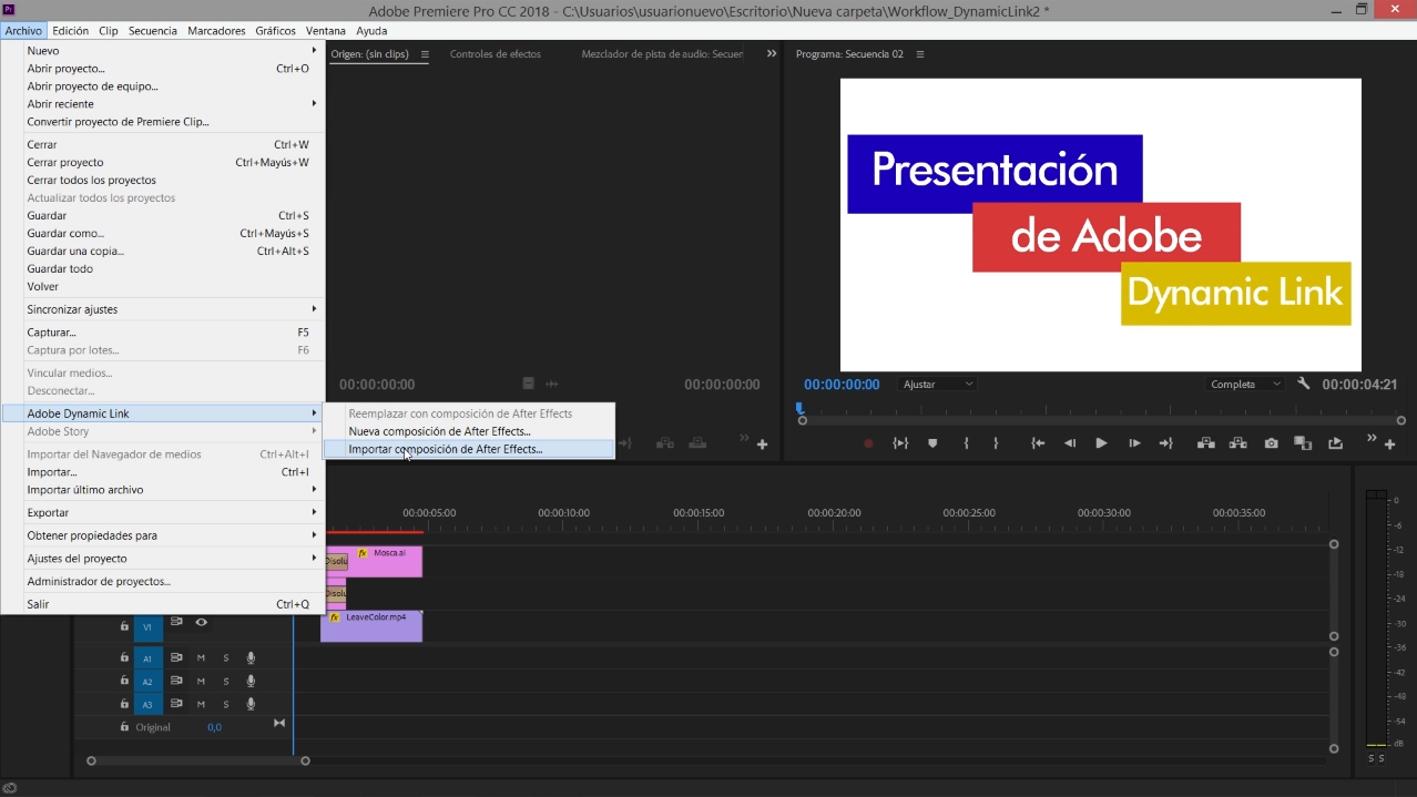 #TUITORIAL | Compartir medios entre Premiere y After Effects con Adobe Dynamic Link